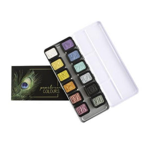 Fine Tec Watercolour Pans - 12 Pearlescent