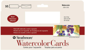 Strathmore Watercolour Cards Slim 10/Set 9x3 7/8