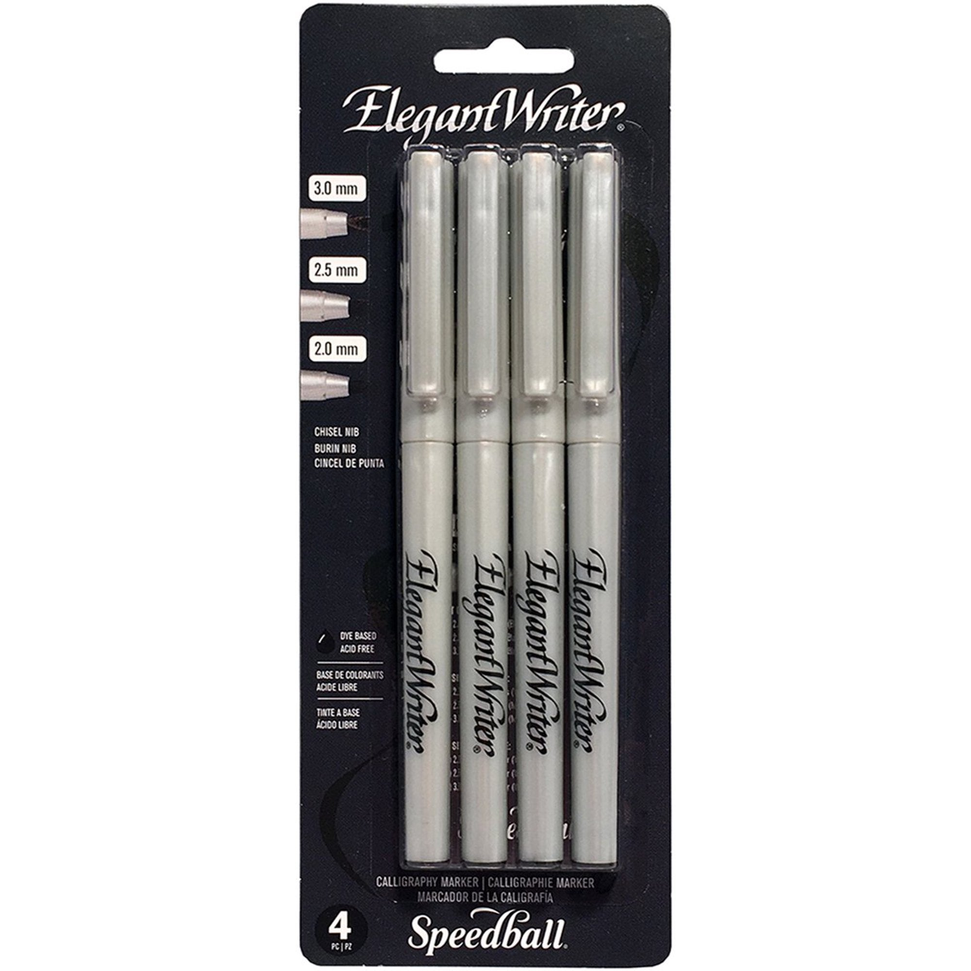 Speedball Elegant Writer Calligraphy Pen Set/4 Black