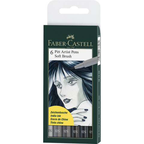 Faber-Castell PITT Artist Pens Soft Brush Set/6