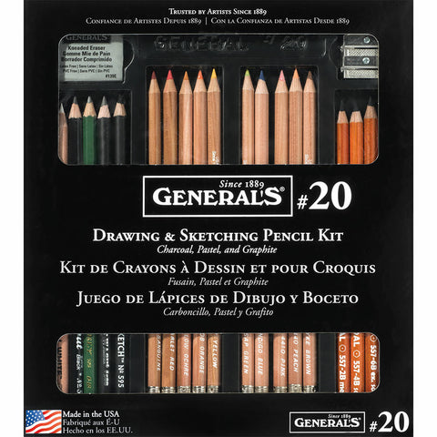 General's Drawing & Sketching Pencil  Kit 21pc
