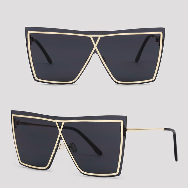 Vegas - Black and Gold - Far Left Sunglasses-FASHION-PropShop24.com