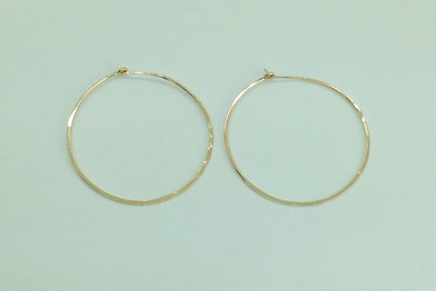 Large Gold Hoop Earrings large 2""