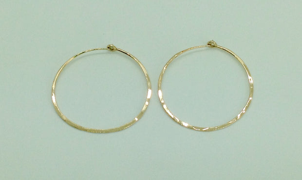 Medium Gold Hoop Earrings 1 & 5/8""