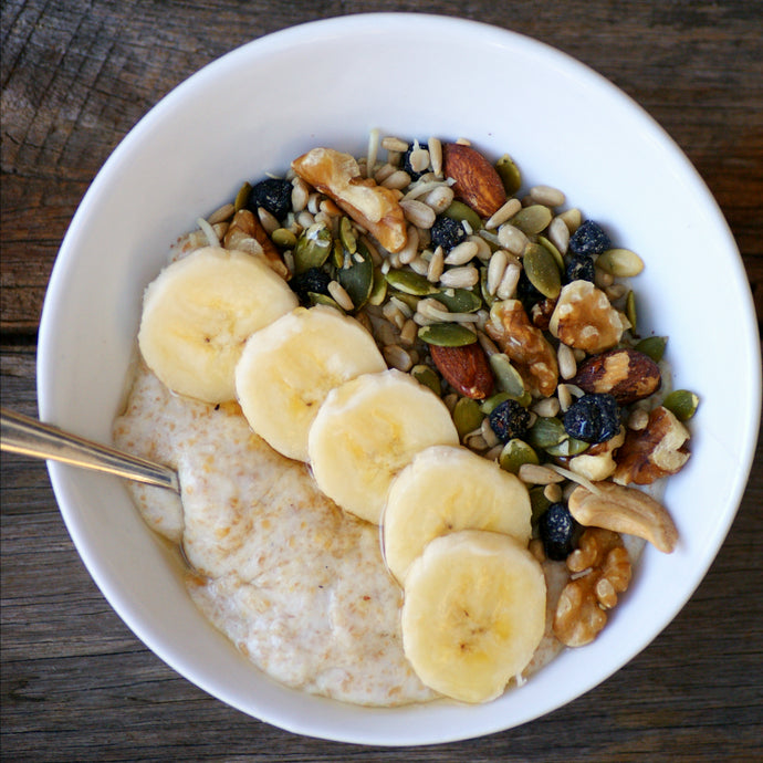 Healthy paleo porridge recipe with Kuranda Wholefoods Paleo Muesli