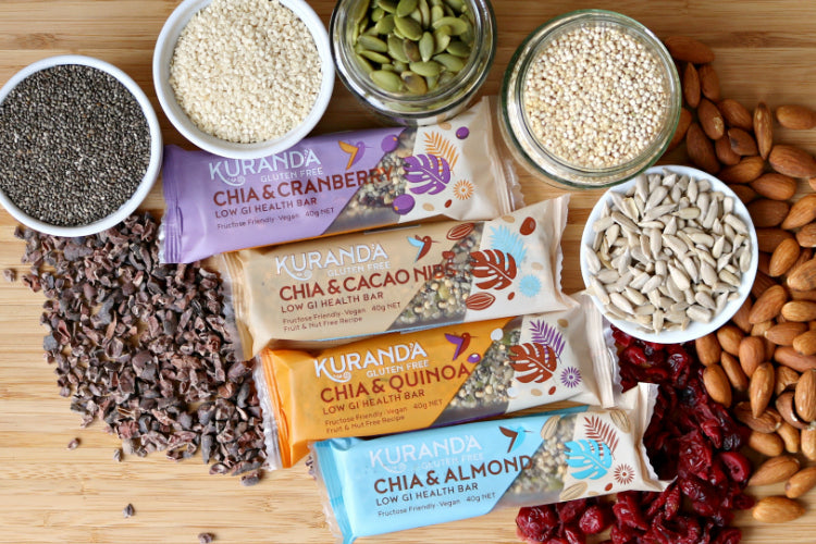 Low GI Gluten Free Chia Bars