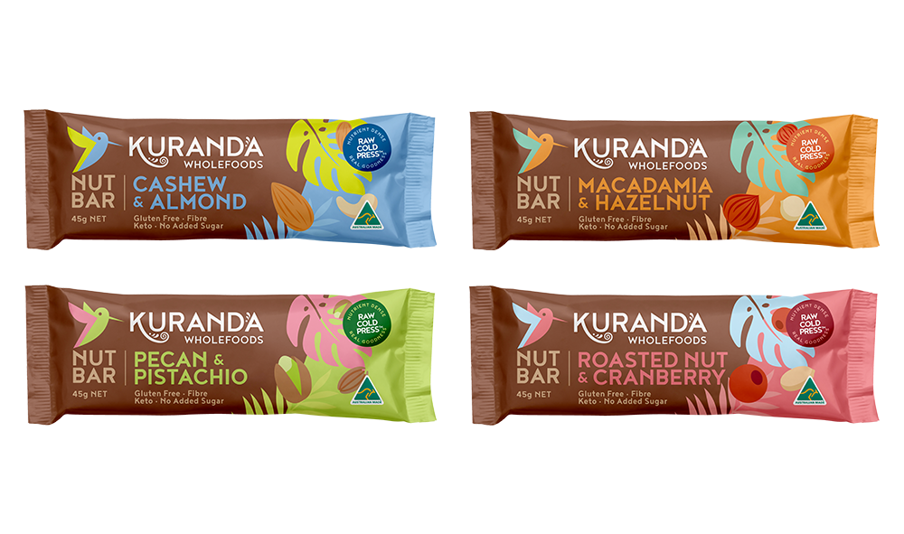 Gluten Free Nut Bars | 4 Pack | Kuranda Wholefoods