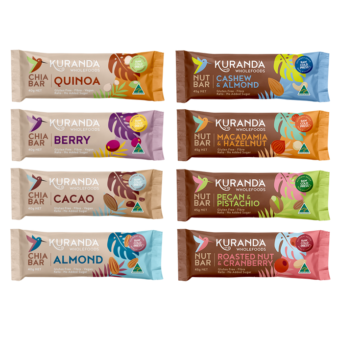 Gluten Free Nut Bars & Chia Bar Sampler Pack | Kuranda Wholefoods