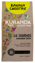 Load image into Gallery viewer, Kuranda Gluten Free Lil' Goodies Lunchbox Bites - Banana Smoothie - Nut Free Lunchbox Bites Delicious Yummy for School or Home