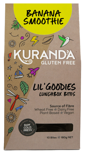 Kuranda Gluten Free Lil' Goodies Lunchbox Bites - Banana Smoothie - Nut Free Lunchbox Bites Delicious Yummy for School or Home