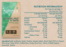 Load image into Gallery viewer, Kuranda Gluten Free Brazil Nut & Date Nutritional Panel - Wheat Free, Dairy Free, Plant-Based Goodness