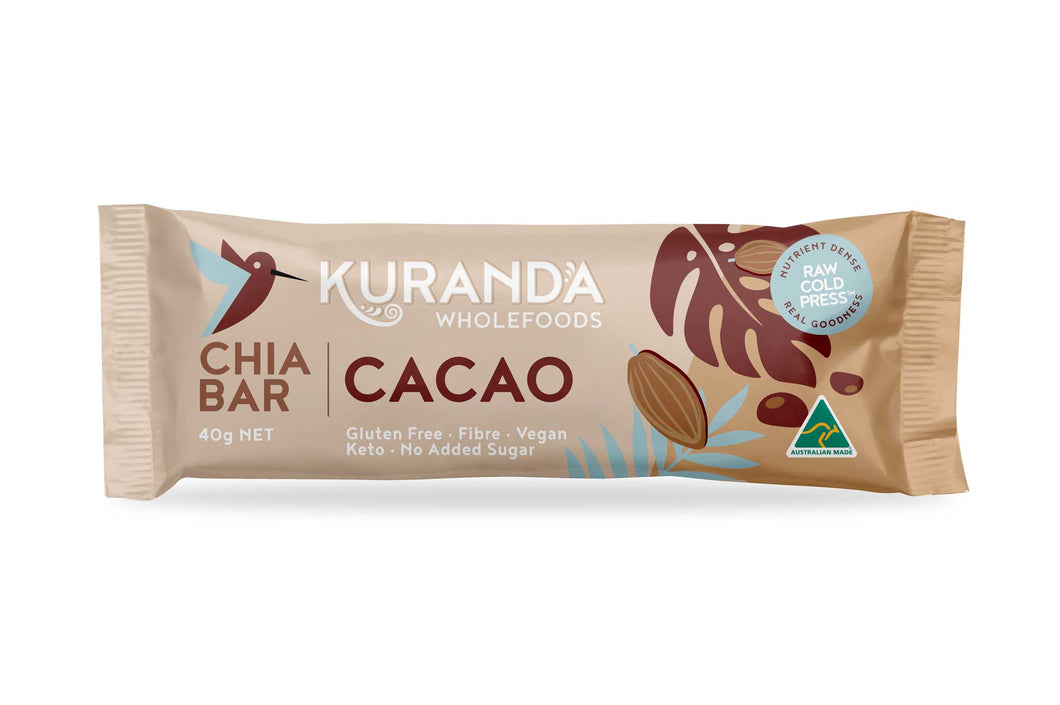 Chia & Cacao Nibs Low GI Snack Bar