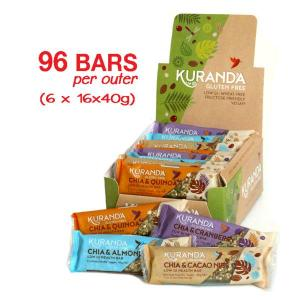 Kuranda Gluten Free Low GI Chia Assorted Bars Box - Deliciously nutritious, wheat free, dairy free, plant-based goodness, high in protein