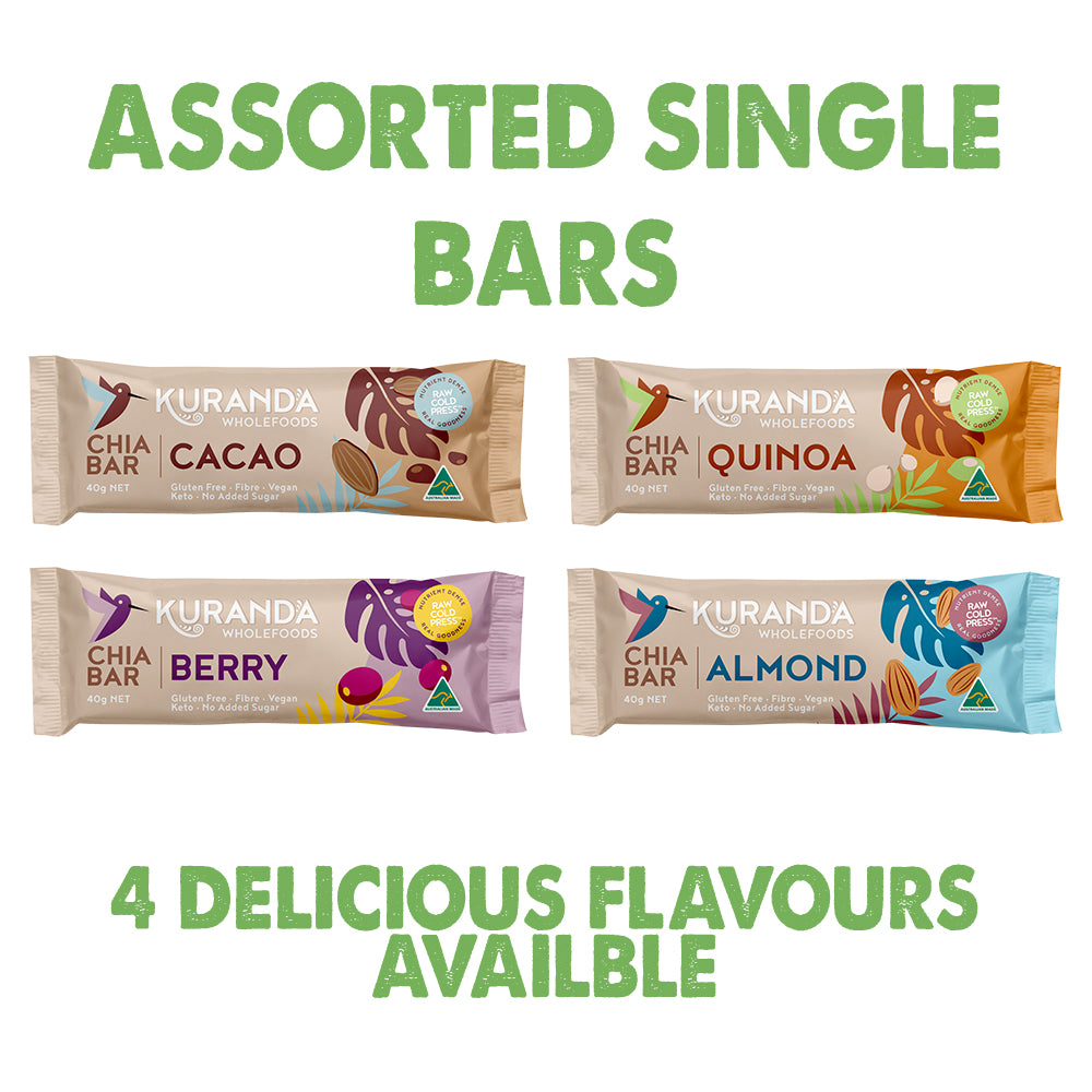 Chia & Quinoa Low GI Assorted Single Bars