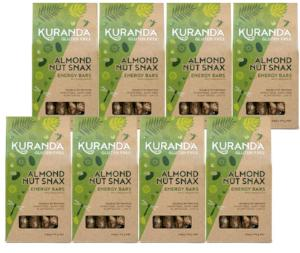 Kuranda Gluten Free Almond Nut Snax 5 Pack Energy Bars - Fruit Free, Wheat Free, Dairy Free, Low GI, Plant-Based Protein