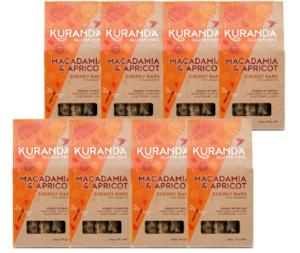 Kuranda Gluten Free Macadamia and Organic Apricot Energy Bars - Wheat Free, Dairy Free, Low GI, Plant-Based Protein
