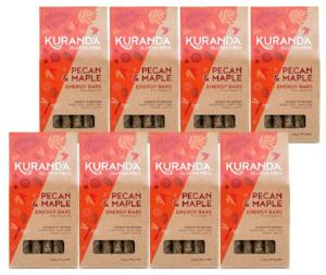 Kuranda Gluten Free Pecan and Maple 5 Pack Energy Bars - Vegan, Fruit Free, Wheat Free, Plant-Based Protein Muesli Bars