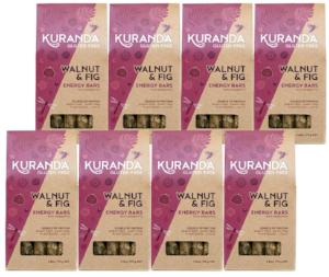 Kuranda Gluten Free Walnut and Fig Energy Bars - Wheat Free, Dairy Free, Low GI, Plant-Based Protein, High Fibre, Muesli Bars