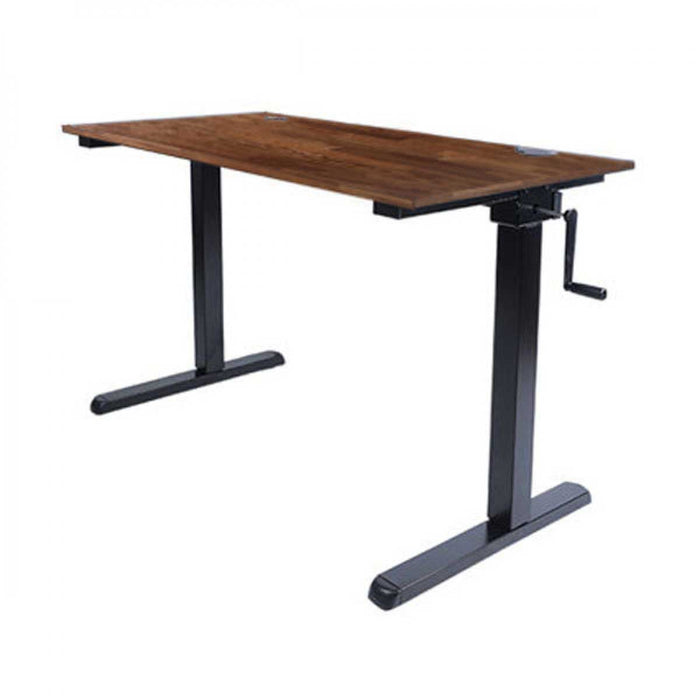 Backbone City Desk Height Adjustable Desk Sit/Stand Desk with Side Crank