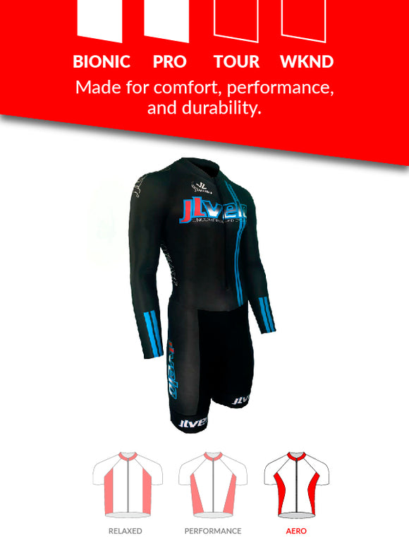 Men's Long Sleeve Ringer Skinsuit