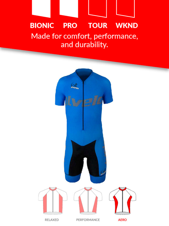 Men's Short Sleeve Ringer Skinsuit