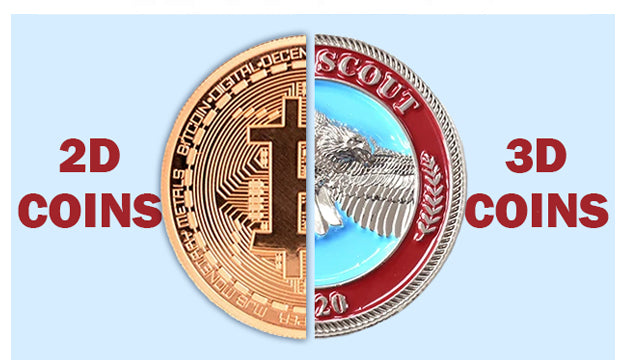 The Differences between 2D and 3D Custom Challenge Coins