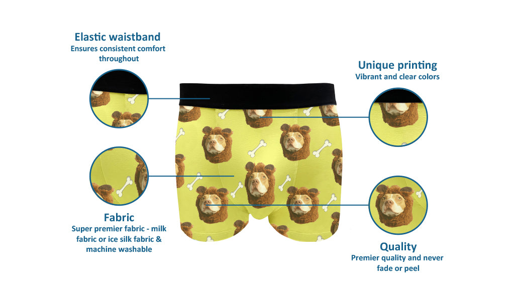 custom dog face boxer shorts