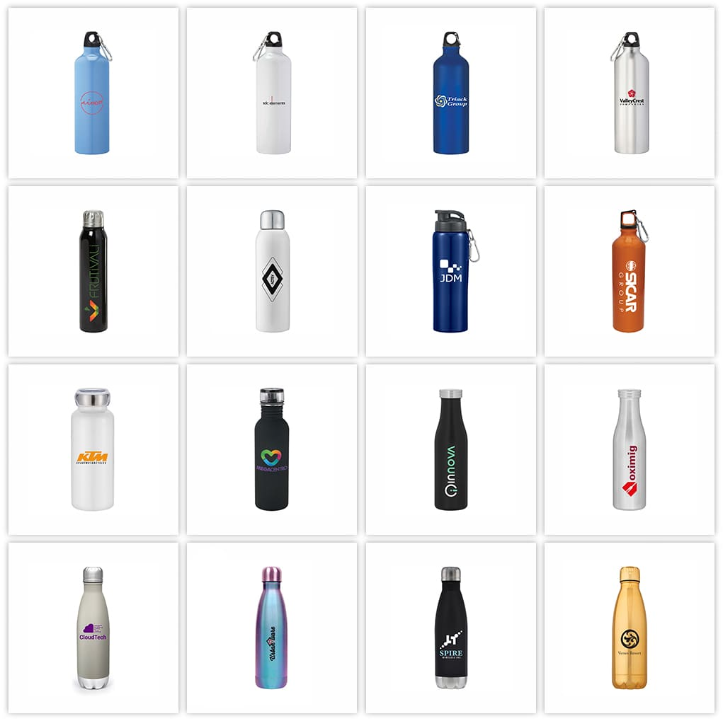 Past Work Custom Water bottles