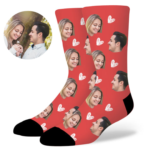 Custom Heart Socks, , EverLighten