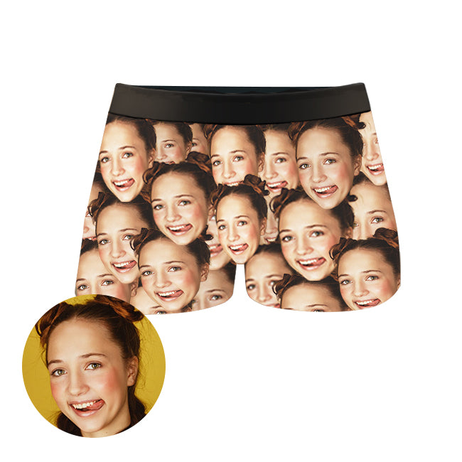 Custom Mesh Face Boxer Shorts, , EverLighten