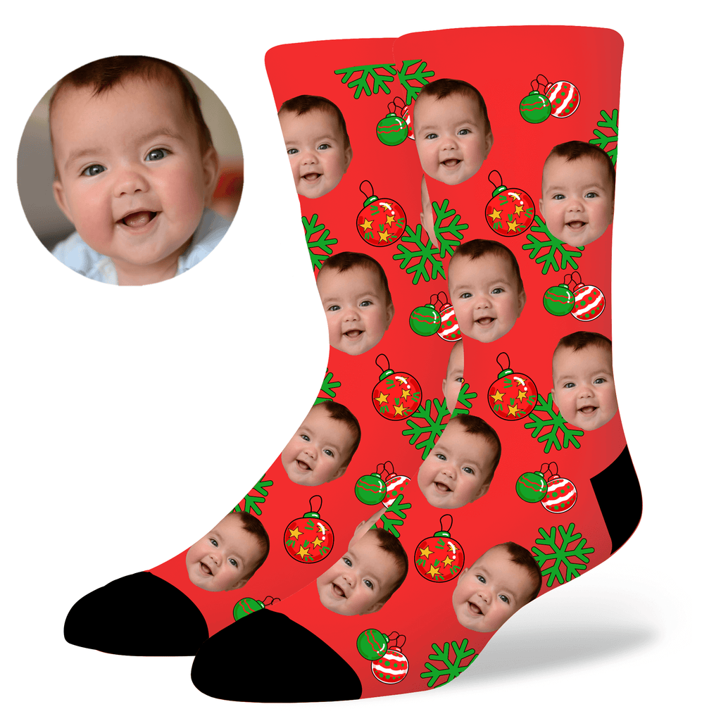 Custom Christmas Face Socks, , EverLighten