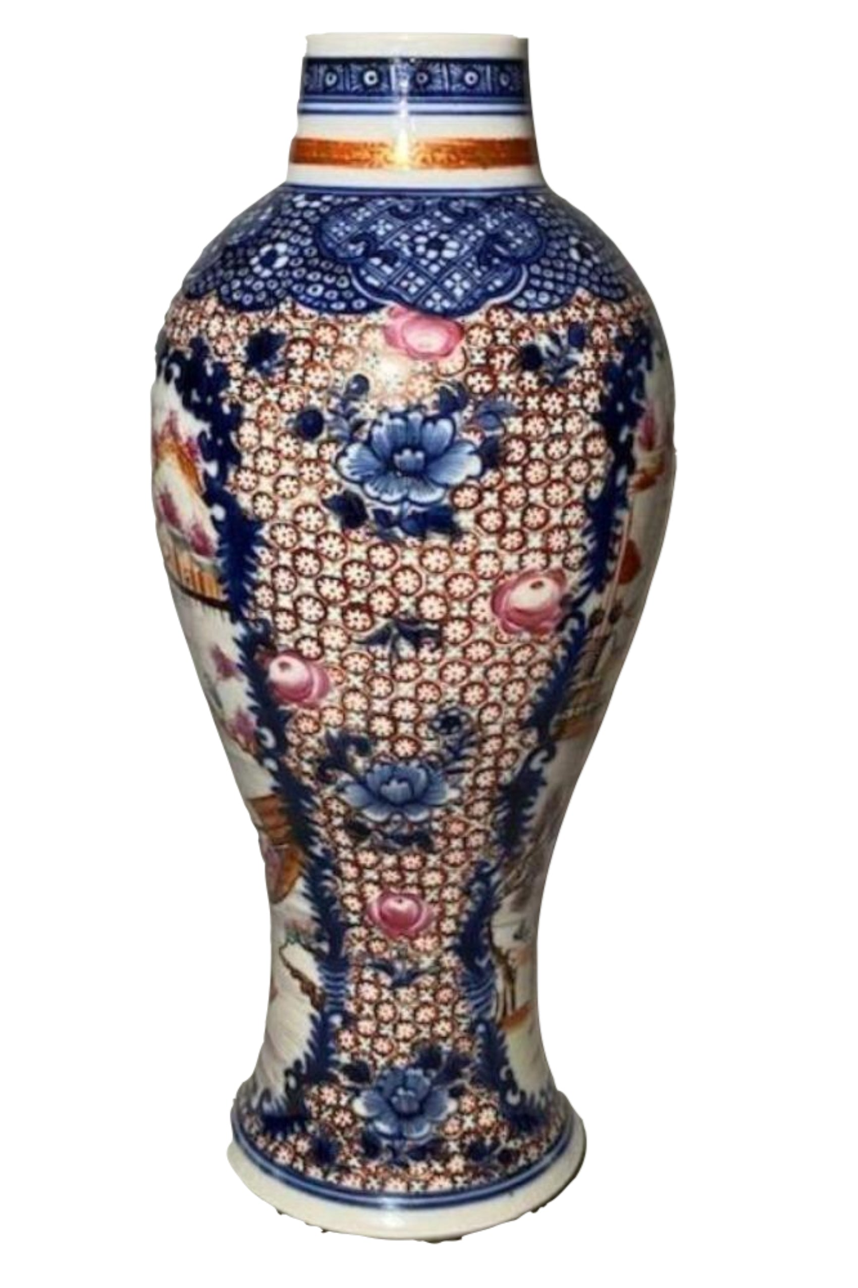 18th C Mandarin Chinese Porcelain Vase