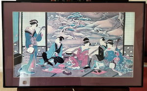 Utagawa Toyoharu - Winter Party Print