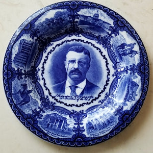 Antique Presidential Plate - Theodore Roosevelt Roland & Marsellus