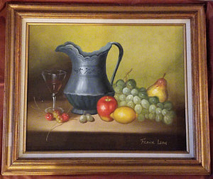 Original Frank Lean Still Life -  Oil on Canvas 16 x 20
