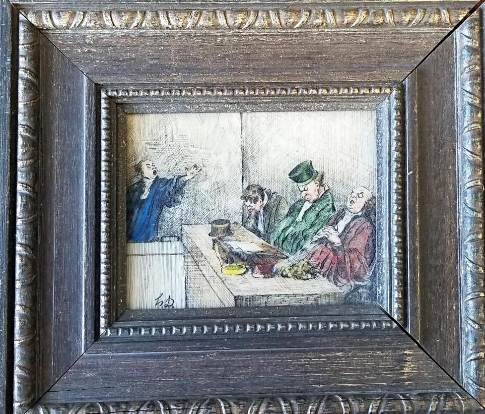 "Honore Daumier - ""Protectors of the Law"" - Signed"