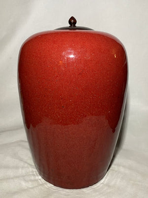 19th Century Chinese Ox Blood Melon Jar