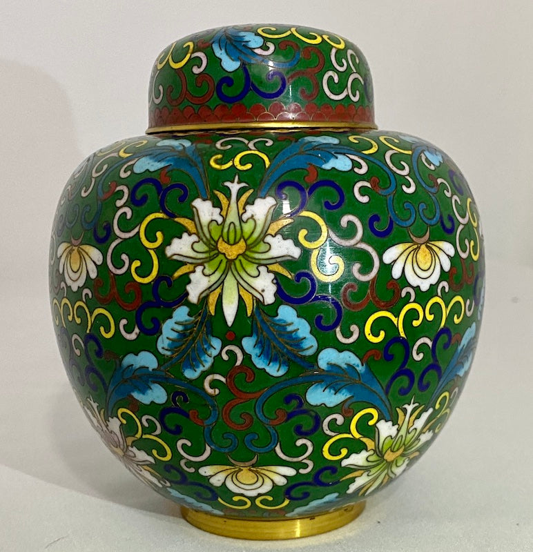 19th C Chinese Cloisonne Ginger Jar