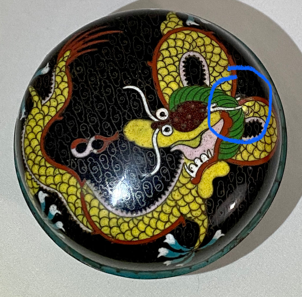 19th Century Chinese Cloisonne Dragon Lidded Box