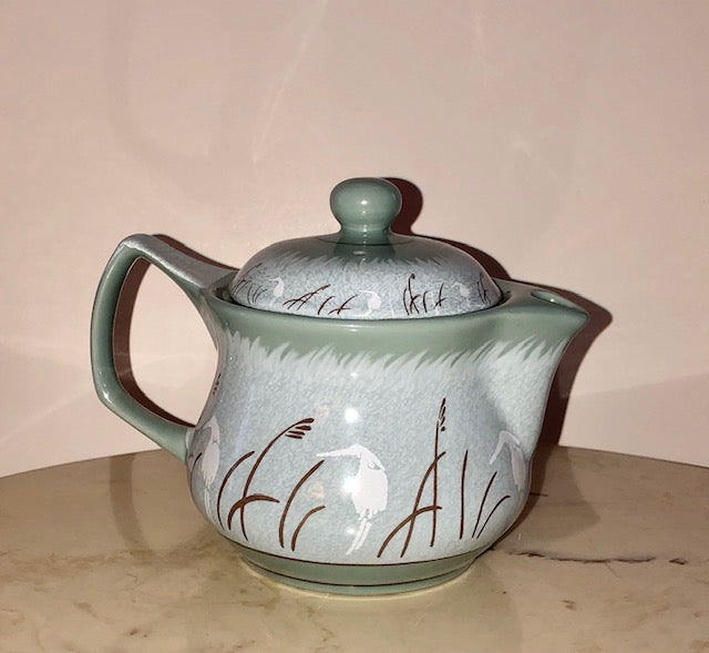 Vintage Porcelain Chinese Tea Pot