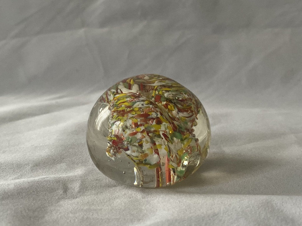 Vintage Abstract Art Glass Paperweight