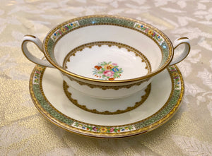 Early 20th C Minton Soup Bowl and Saucer Set
