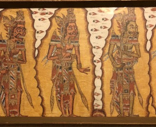 Indonesian Batik Traditional Kamasan Painting of Rama Epic