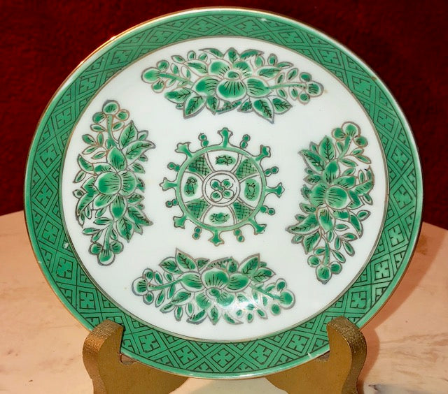 Japanese Porcelain Plate Decorated in Hong Kong