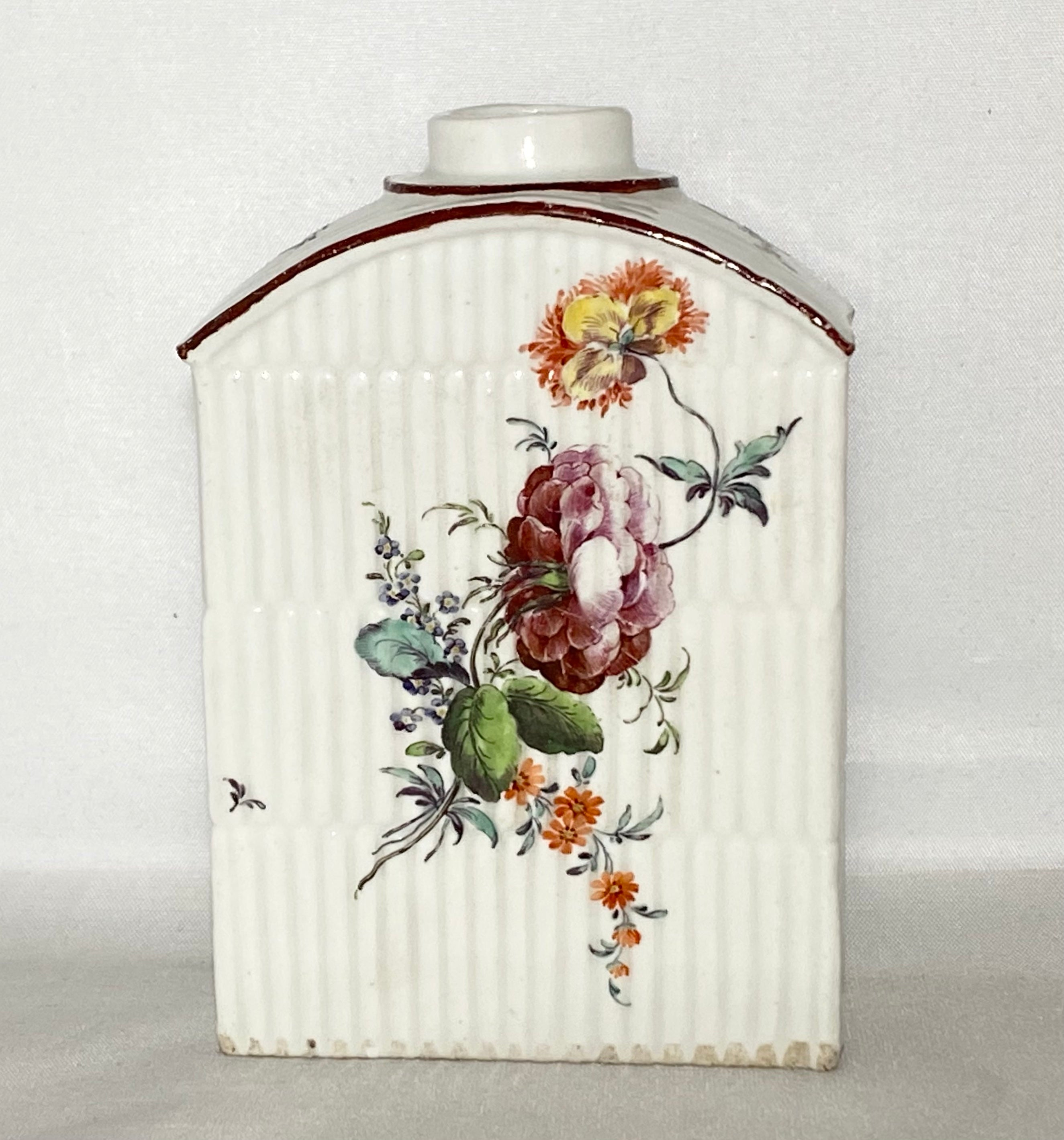 18th C Rauenstein Porcelain Tea Caddy