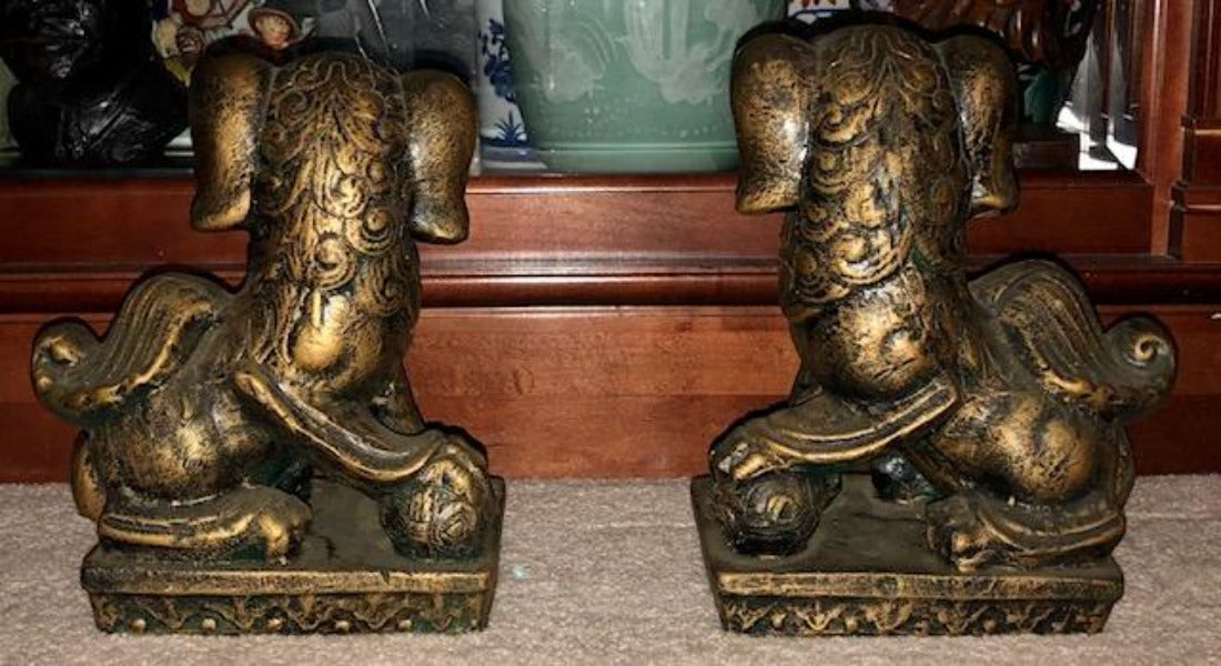 Large Vintage Foo Dogs
