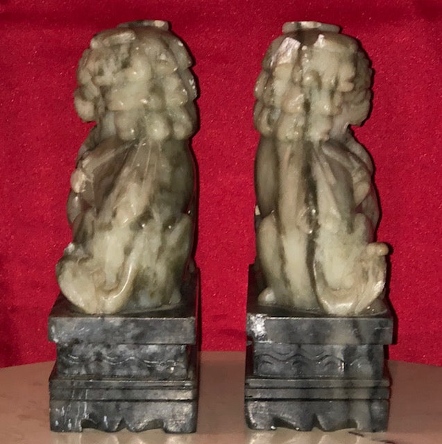 Carved Nephrite Foo Dogs