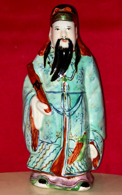 Porcelain Immortal Fu Figurine