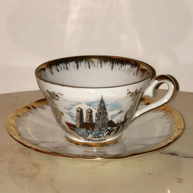 Kunst-Palette Bavaria Tea Cup and Saucer