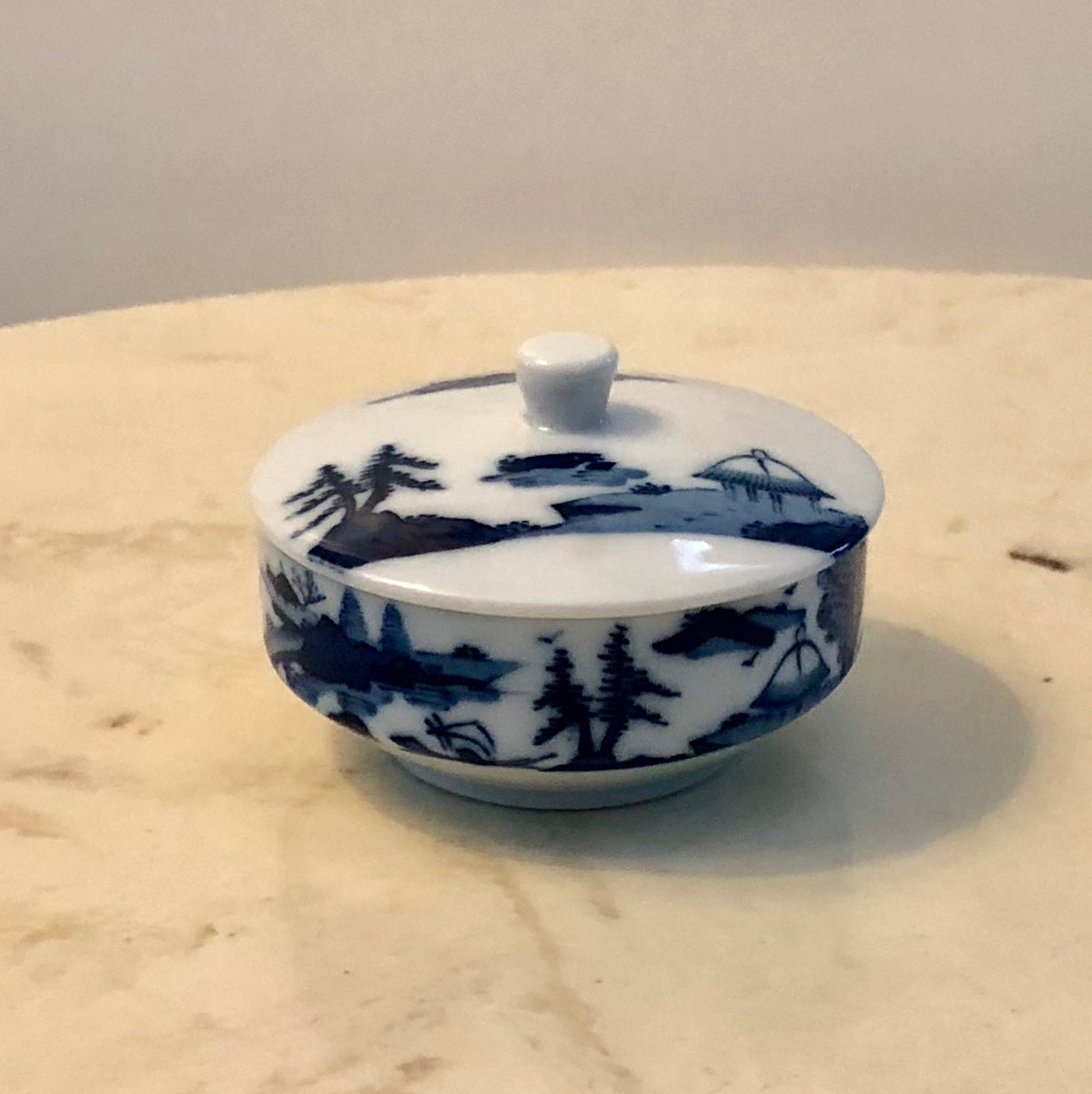 Japanese Blue and White Porcelain Trinket Box